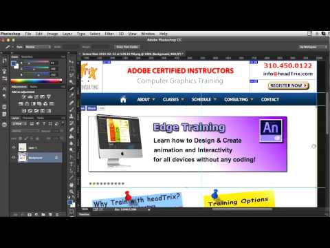 Photoshop Training Tutorial | Slicing Images, Exporting PSD To HTML | Photoshop Training Los Angeles