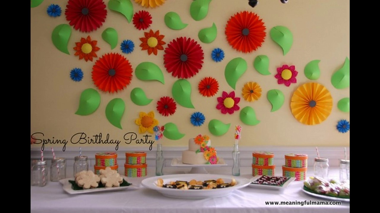 Ideas de la decoraci n de la fiesta de primavera youtube - Ideas decoracion fiesta ...