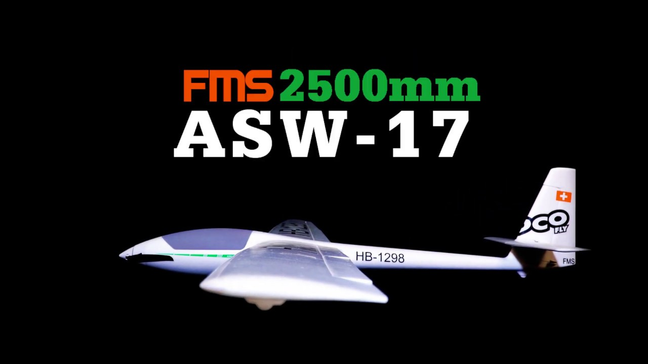FMS Fuselage Wheel Set ASW-17 EP Glider 2500mm FMMEB107