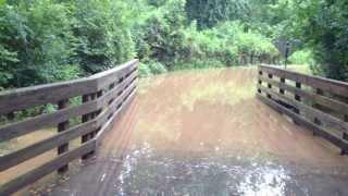 Big Creek Greenway Flooding 1 - Roswell GA - August 2013 - HD