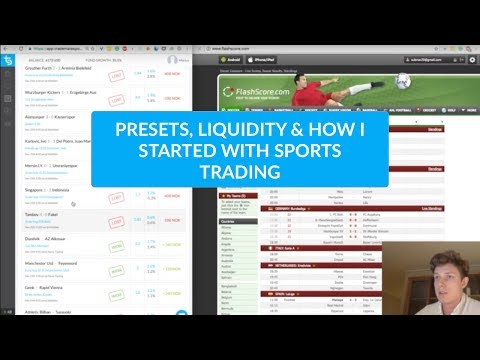 Live trading, presets market liquidity, how I got started an