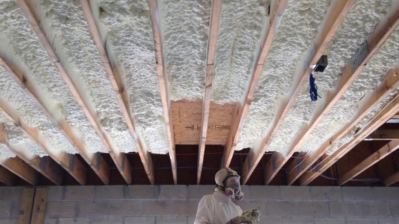 Spray Foam Ceiling Garage  YouTube