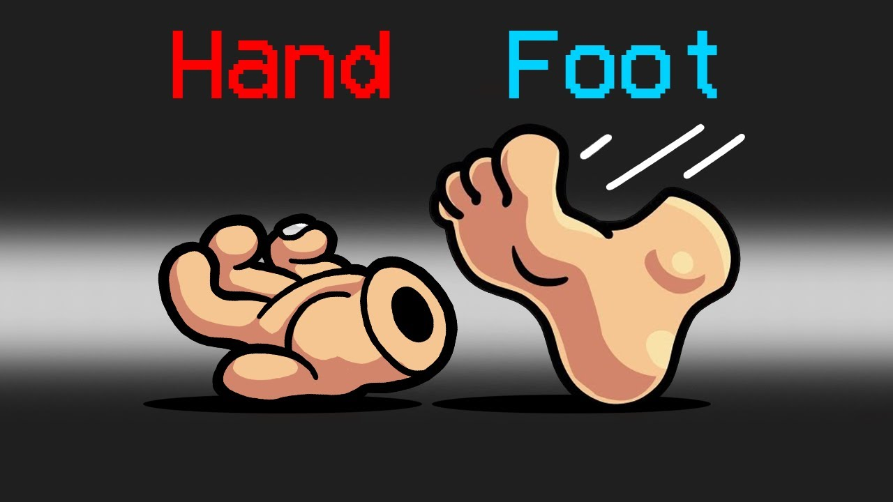 *NEW* FOOT vs HAND Mod in Among Us