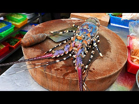 Taiwan Street Food - RAINBOW LOBSTER Cooked Two Ways 龙虾 / ロブ