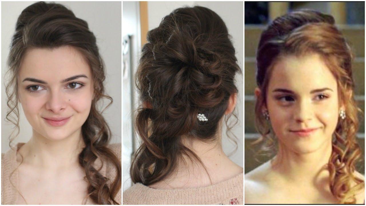 Hermione S Yule Ball Hair Tutorial Youtube
