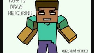 How to draw herobrine (easy)