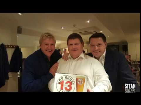 Football Legends Tony Cottee and Frank McAvennie at Steam Wine Bar