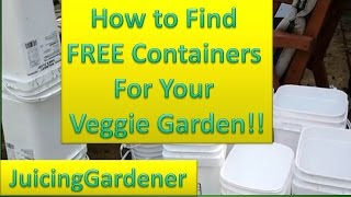 Container Garden Ideas - How To Find FREE Containers For Your Vegetable Garden
