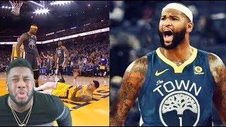 Warriors Vs Lakers Highlights | DeMarcus Cousins destroys Kyle Kuzma