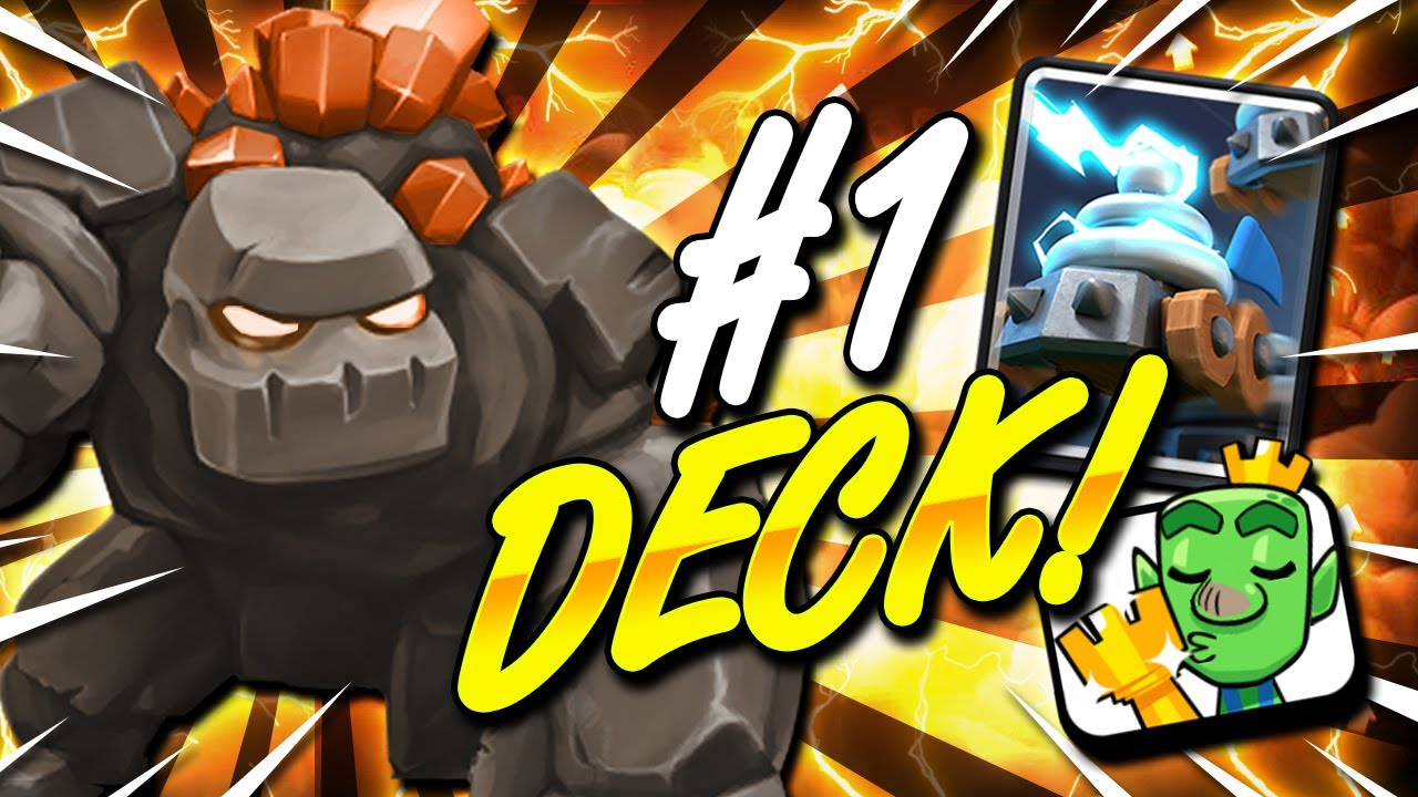 #1 NEW GOLEM DECK DOMINATES!! CLASH ROYALE SEASON 13 META!!
