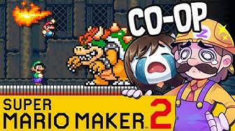 Wir wollen doch nur ins Ziel :( | SUPER MARIO MAKER 2 Coop