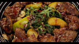 Тёплый салат  с куриной печёнкой / рецепт от шеф-повара /  Илья Лазерсон / Обед безбрачия