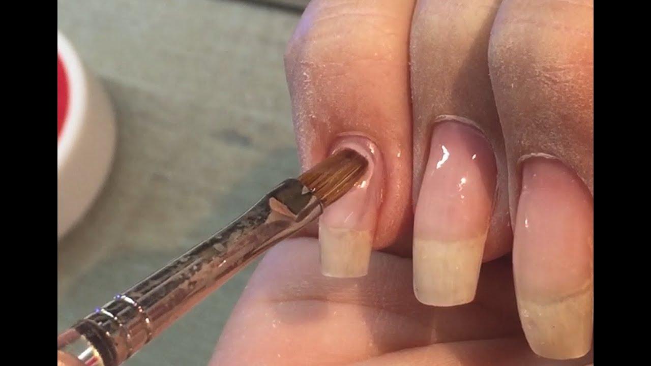Gelnägel auffüllen - Teil 2 Gel auftragen - YouTube