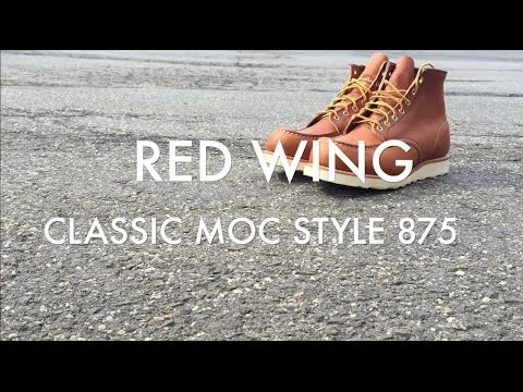 Red Wing Boots On Feet 875 Classic Moc