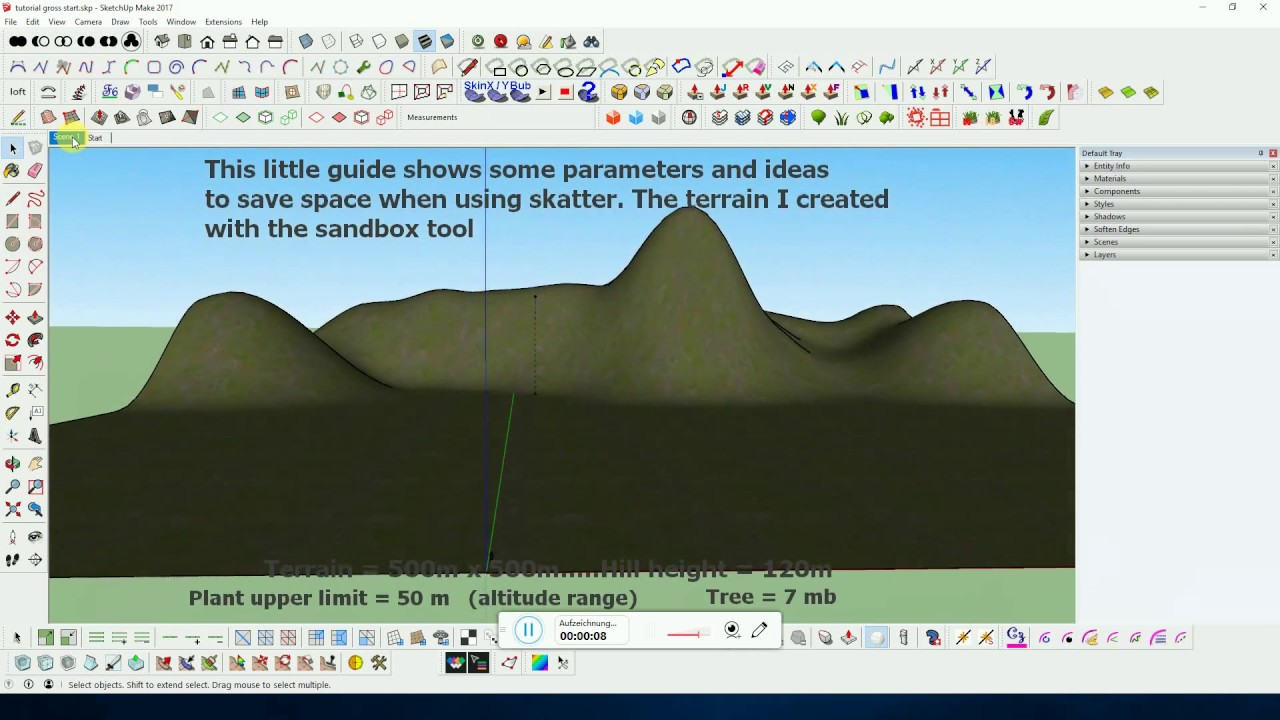 how to use skatter sketchup