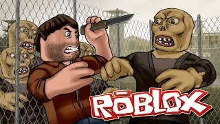 Roblox | ZOMBIES ATTACK THE PRISON BASE - Walking Dead Roblox! (Roblox Adventures)