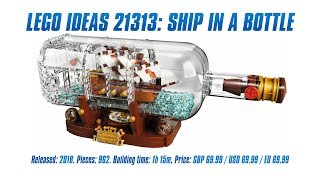 LEGO Ideas 21313: Ship in a Bottle In-depth Review & Speed Build [4K]