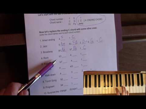 Easy Piano Chord Substitutions (at the end of a song)