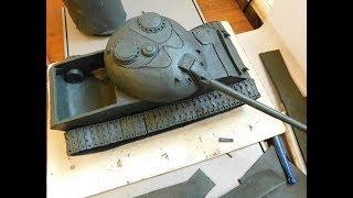 танк Т 54 урок по лепке из пластилина  обл часть 2
