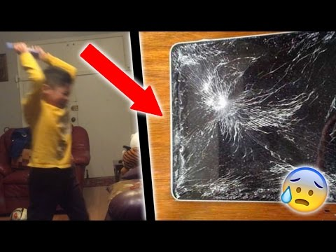 INSANE KID RAGES OVER GEOMETRY DASH! *SMASHES IPAD*