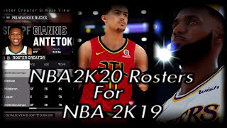 Updated NBA 2K20 Rosters On NBA 2K19 With Rookies And  Correct Accessories