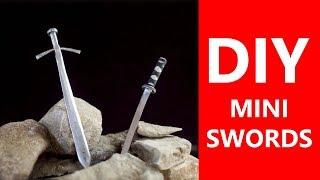 DIY Mini Swords Tutorial - Made at home