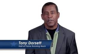 Just Say Thanks - Tony Dorsett PSA