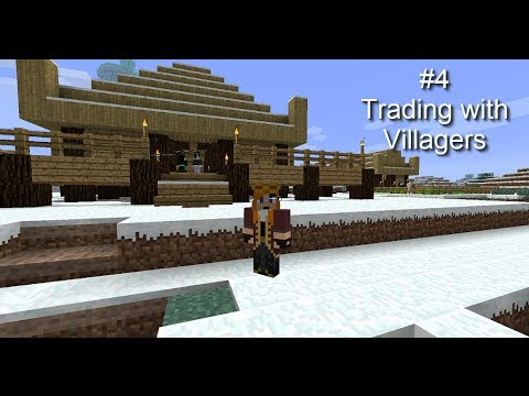 Minecraft FTB New World #4, Trading with Villagers