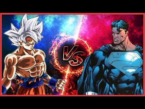 Ultra Instinct Goku Vs Superman Prime Youtube