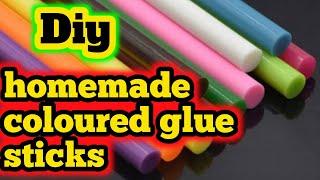 Homemade glue stick|Homemade gĮue gun sticks|Diy colour glue stick|Diy glue gun sticks