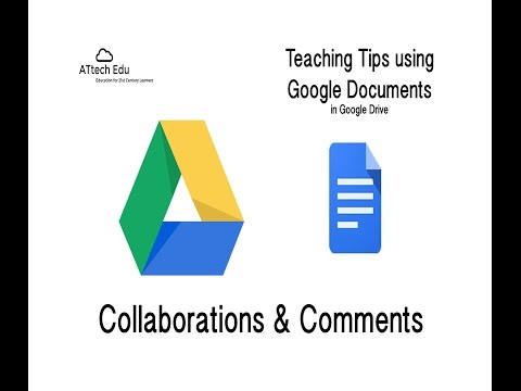 Teaching Tips Using Google Documents - Collaboration And Comments In Google Documents