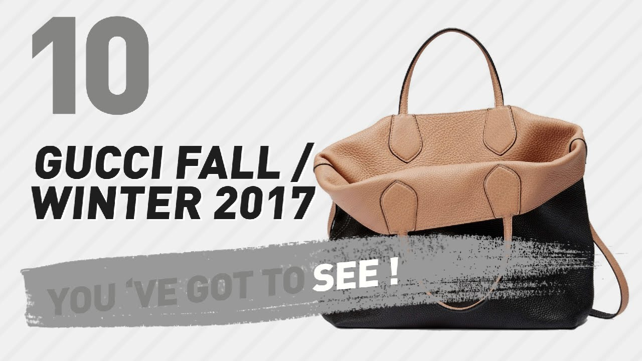 ee3f2924fd39 Gucci Totes // New & Popular 2017 - YouTube
