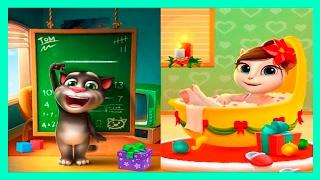 ИГРА МОЙ ГОВОРЯЩИЙ ТОМ #7 ГОВОРЯЩИЙ ТОМ АНДЖЕЛА И ДРУЗЬЯ - мультик игра развивающие видео для детей.