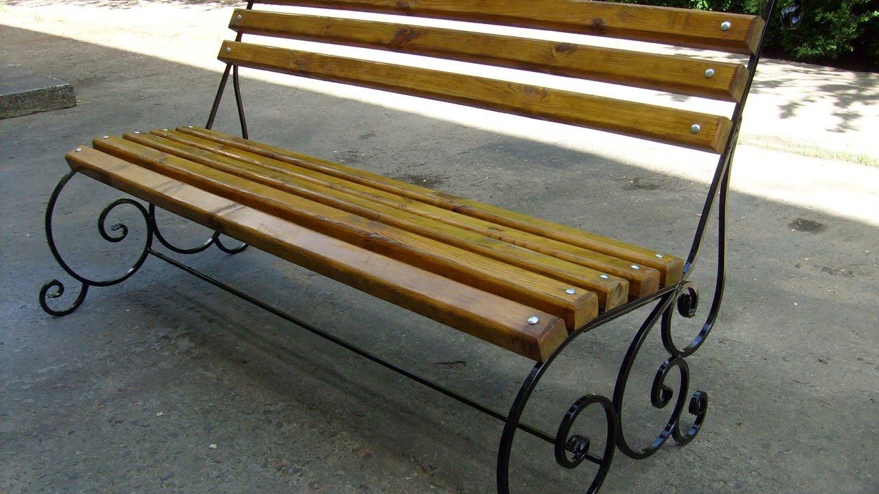 Кованые скамейки своими руками