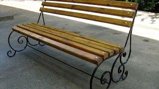 Кованая лавочка.Садовая скамейка.(, 2017-05-20T06:00:02.000Z)