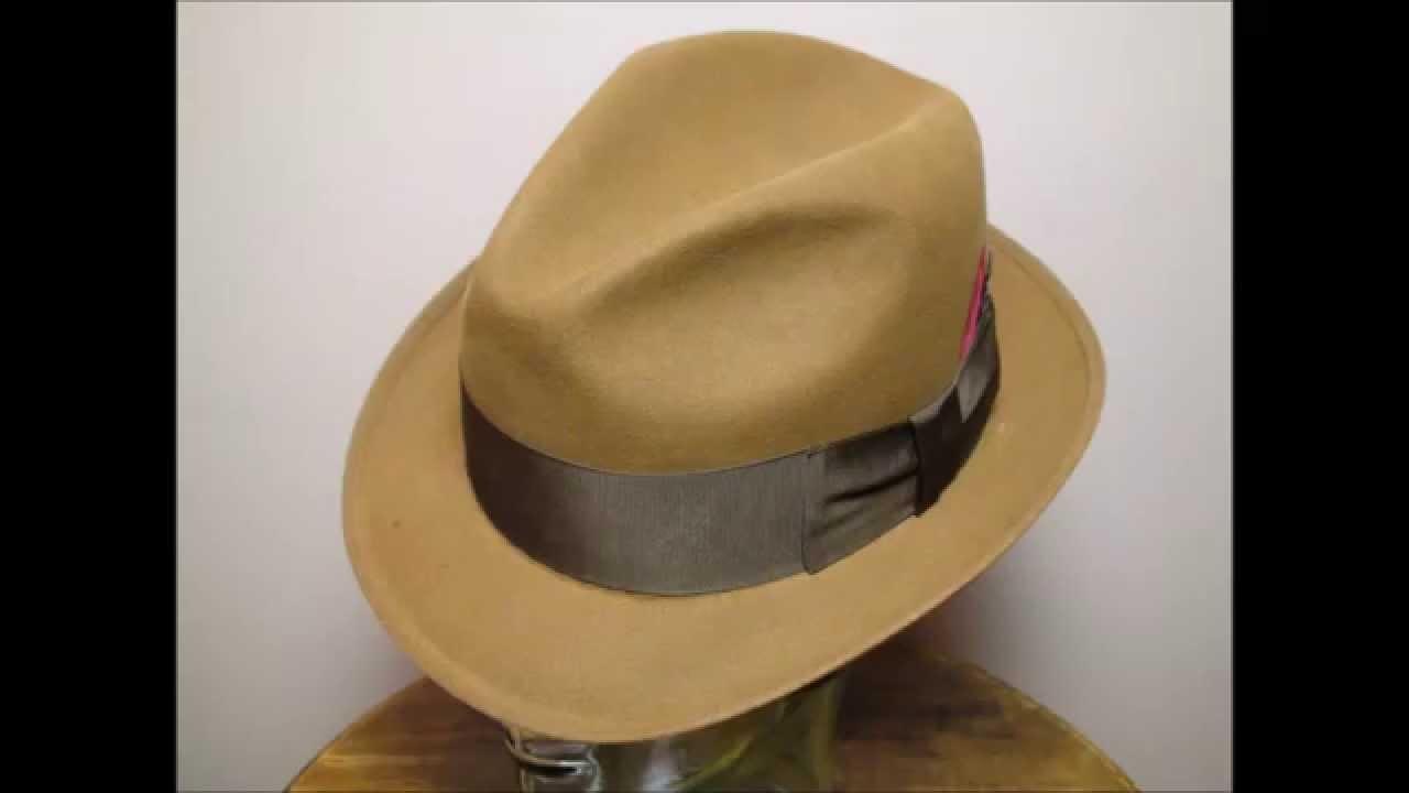 f3c4832dc2172 Knox New York Keenard Sunset Brown Fedora Hat Size 7 1 4 - YouTube