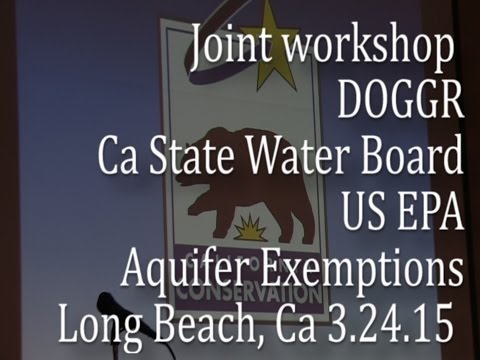 Joint California Workshop on Aquifer Exemptions
