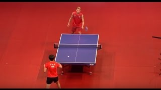 Lin Dan playing table tennis with badminton racket 林丹Vs李曉霞 兵乓球