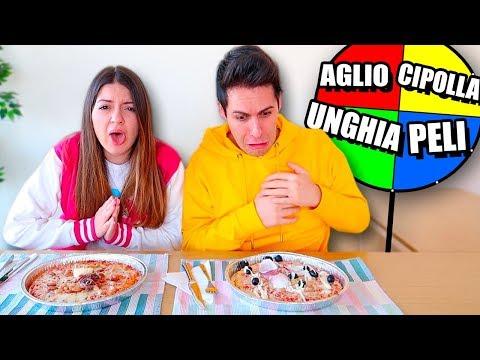 RUOTA MISTERIOSA DELLA PIZZA CHALLENGE! *Disgustosa!*