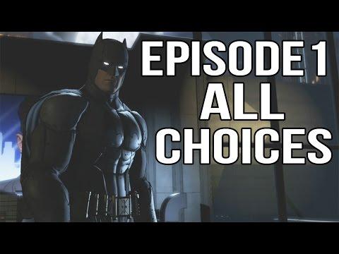 Batman Telltale Episode 1 - All Choices/ Alternative Choices and Ending