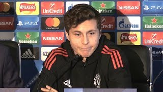 Victor Lindelof Full Pre-Match Press Conference - Manchester United v CSKA Moscow - Champions League