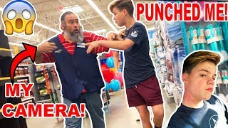 Download I GOT PUNCHED BY A WALMART EMPLOYEE! *BROKE MY CAMERA* Mp3 and Videos