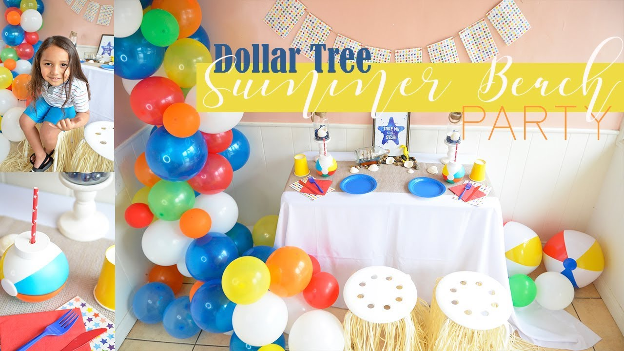 Summer Beach Pool Party Decor Ideas