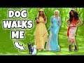 MY DOG WALKS ME WITH ELSA AND BELLE AND MOANA Totally TV Dress Up Characters mp3