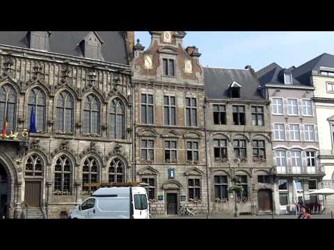 Mons, Belgium - main square and City Hall