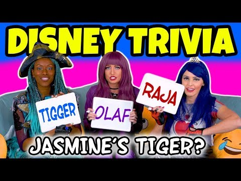 Disney Trivia Challenge with Mal, Evie and Uma Dress Up. How Much Do You Know About Disney Movies?