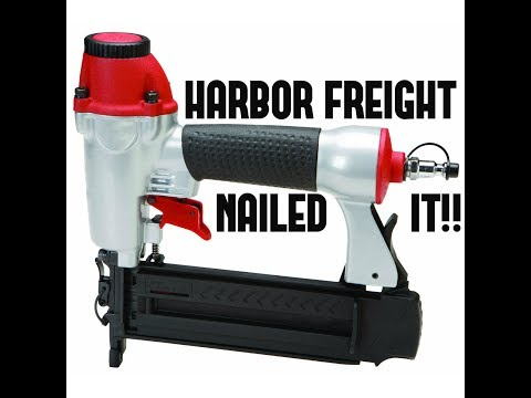 Harbor Freight 18 Gauge Brad Nailer (#68021) Review and Demo