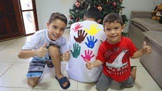Aprendendo cores com a Camisa do Papai - Learn Colors for Children Body Paint