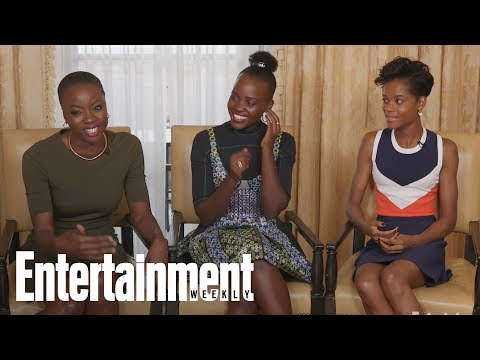 'Black Panther' Danai Gurira, Letitia Wright On Their Epic Rap Battles On Set | Entertainment Weekly streaming vf