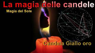 Magia con le candele Sole candela Giallo oro felicità domestica, la casa, ricchezza.